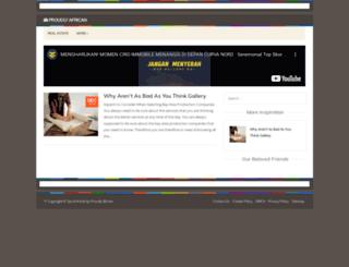 proudlyafrican.info screenshot
