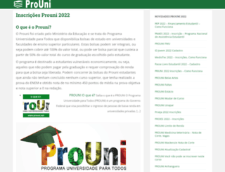 prouni.net screenshot