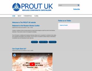 prout.org.uk screenshot