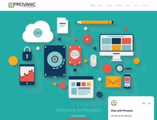 provanic.org screenshot