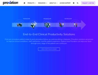 provationmedical.com screenshot