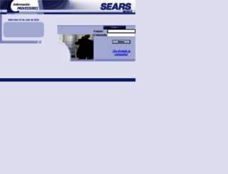 proveedores.sears.com.mx screenshot
