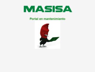proveedoresmx.masisa.com screenshot