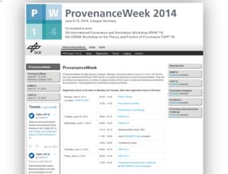 provenanceweek.dlr.de screenshot