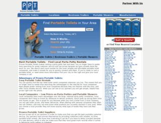 provenportabletoilets.com screenshot