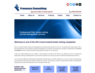 provensaconsulting.com screenshot