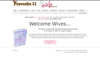 proverbs31wifehandbook.com screenshot