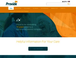 provide.org.uk screenshot