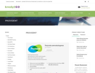 provident.kredytgo.pl screenshot