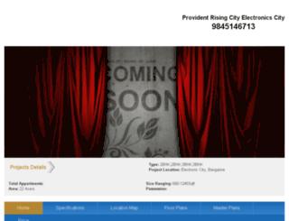 providentrisingcity.in screenshot