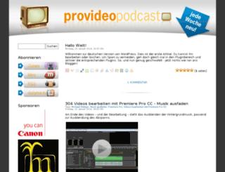 provideo-podcast.de screenshot