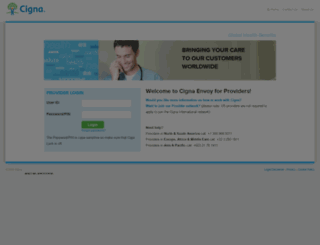 provider.cignaenvoy.com screenshot