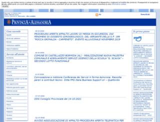 provincia.alessandria.it screenshot