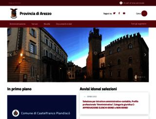 provincia.arezzo.it screenshot