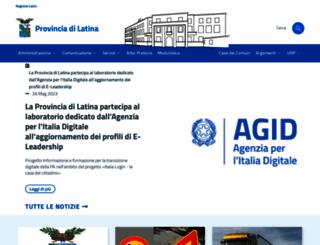 provincia.latina.it screenshot