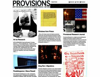 provisionslibrary.org screenshot