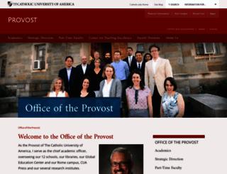 provost.cua.edu screenshot