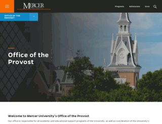 provost.mercer.edu screenshot