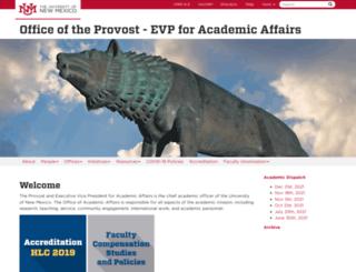 provost.unm.edu screenshot