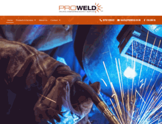 proweld.co.uk screenshot