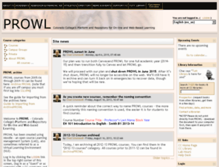 prowl.coloradocollege.edu screenshot