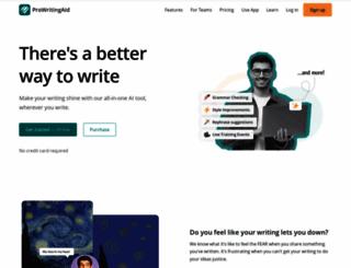 prowritingaid.com screenshot