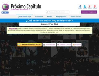 proximocapitulo.com screenshot