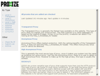 proxize.com screenshot