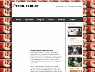 proxu.com.ar screenshot