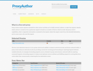 proxyauthor.com screenshot