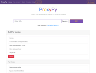 proxypy.org screenshot