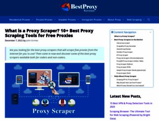 proxyscraper.com screenshot