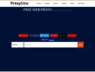 proxysite.com screenshot