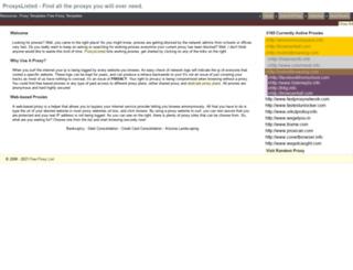 proxyslisted.com screenshot