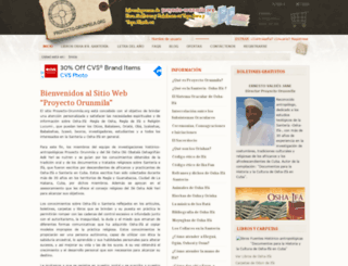 proyecto-orunmila.org screenshot