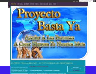 proyectobastaya.ning.com screenshot