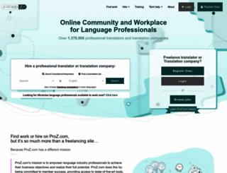 proz.com screenshot