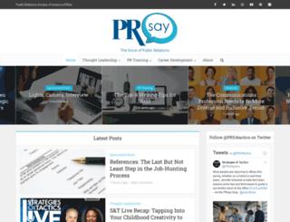 prsay.prsa.org screenshot