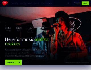 prsformusic.com screenshot
