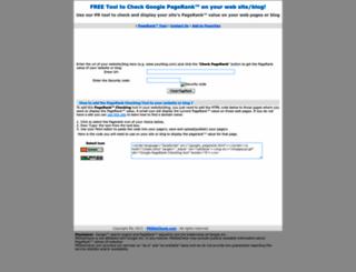 prsitecheck.com screenshot