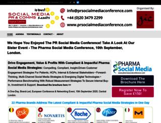 prsocialmediaconference.com screenshot