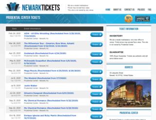 prudential.centernewark.com screenshot
