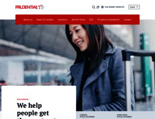 prudentialcorporation-asia.com screenshot