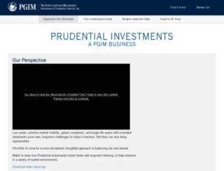 prudentialmutualfunds.com screenshot