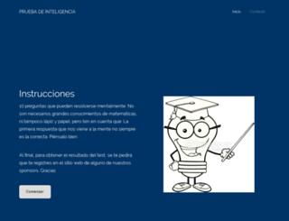 pruebatuinteligencia.com screenshot