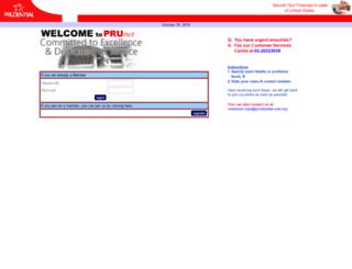 prunet3.prudential.com.my screenshot