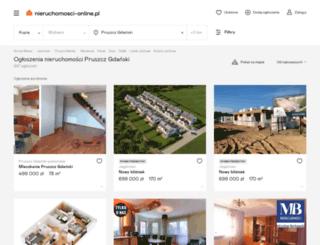 pruszcz-gdanski.nieruchomosci-online.pl screenshot