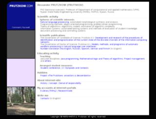 prutzkow.com screenshot