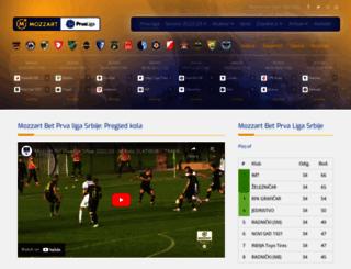 prvaligasrbije.com screenshot