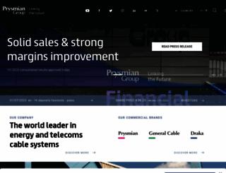 prysmian.com screenshot